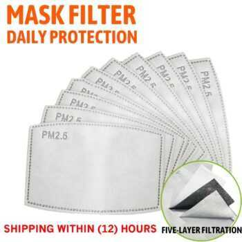 5 Layers PM2.5 Filter Paper Activated Carbon Adult Anti Haze Mouth Mask Anti Dust Air Face Masks Filter Cotton Anti Dust Mask