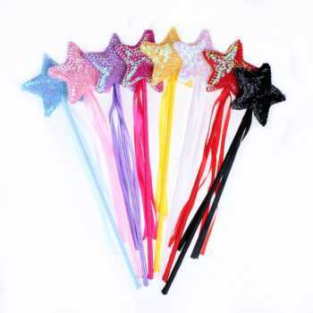 1 Pcs Halloween Star Fairy Wand Magic Stick Girl Party Princess Favors Birthday Gift Carnival Wedding Decoration