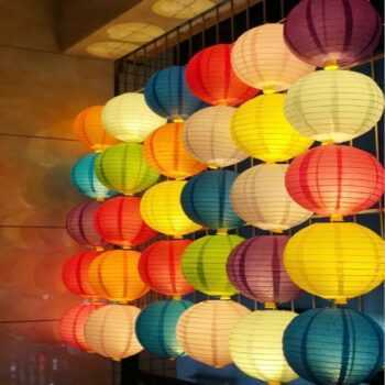 (4,6,8,10,12,14,16inch)Handmade Round Paper Lanterns Hanging Wedding Birthday Party Holiday Decoration Chinese Paper Lights ball