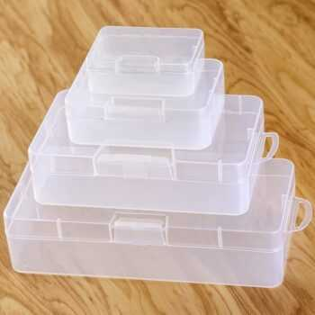 1 pcs Snap-on mini PP empty box Plastic PP transparent empty box with cover plastic box packaging parts storage box