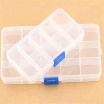 10 / 15 Compartment Grids Slots Organizer Jewelry Pill Gadgets Storage Plastic Box Loom Bands Craft Nail Art Beads