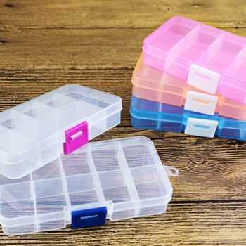 1 detachable 10 grid container Cosmetic storage box Plastic storage box Multi-function Jewelry box Furniture accessories
