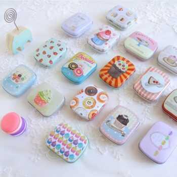 1 PC Random Colors Wedding Jewelry Accessories Pill Case Xylitol Storage Box Portable Earphone Boxes Mini Iron Container