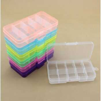 10 Grids Adjustable Transparent Plastic Storage Box Bead/Pills Organizer for Small Component Nail Art Tip Case Jewelry Tool Box