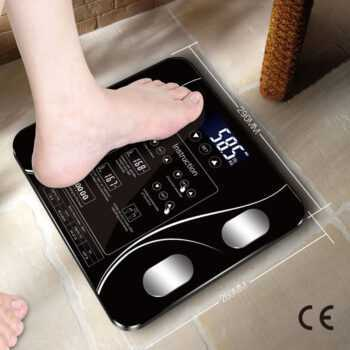 CE Certification USB charging Sakura Smart Household Weighing Scale Small Fat Scale LED Digital English Function Screen USB