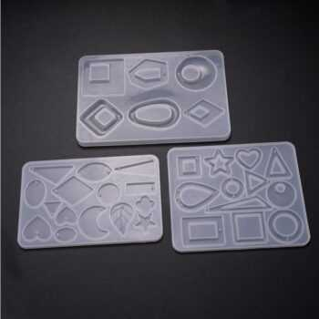 1 PC New Design Resin Accessories Resin Molds for Jewelry Dried Flower Products Earrings Pendant Jewelry Tools