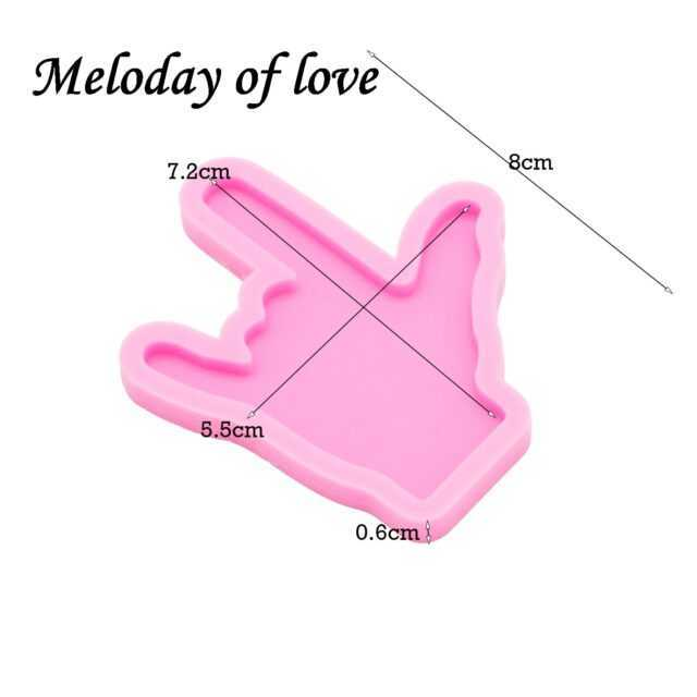 Shiny Hand Finger Shape Molds For Keychains Diy Epoxy Resin Keychain Molds Silicone Rubber Dy0118 Love The Shop