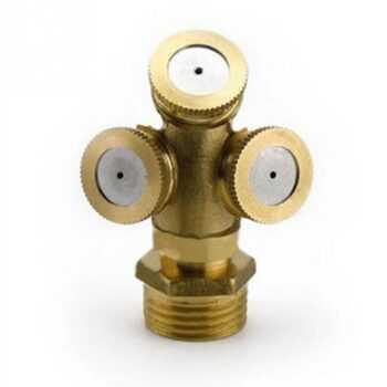 1/2/3 Holes Sprayer Adjustable Brass Agricultural Mist Spray Nozzle Garden Irrigation System