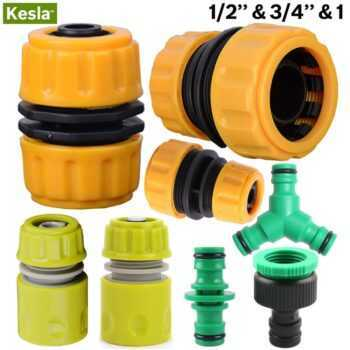 """1/2″ 3/4"""" 1 Hose Connector Garden Tools Quick Connectors Repair Damaged Leaky Adapter Garden Water Irrigation Connector Joints"""