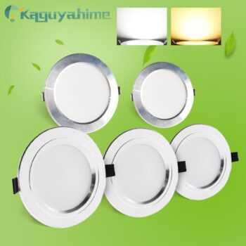 =(K)= LED Downlight 220V AC 110V Recessed Round LED Lamp 3W 5W 9W 15W 18W Aluminum Spot Light Warm White Cold White High Bright