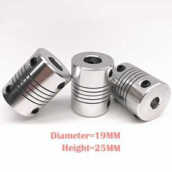 1 pcs CNC Motor Jaw Shaft Coupler 5mm To 8mm Flexible Coupling OD 19x25mm wholesale Dropshipping 4/ 5/6/6.35/8/9.5/10/12mm