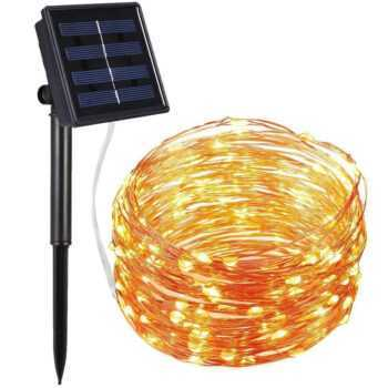 10M 20M 30M 40M 50M Solar Power LED Light Christmas Garland Fairy Flexible String Lamp Chains Garden Outdoor Party Decoration