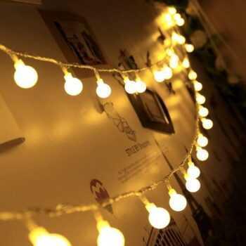 10m 20m 30m 50m led string lights with white ball AC110V/220V holiday decoration lamp Festival Christmas lights outdoor lighting