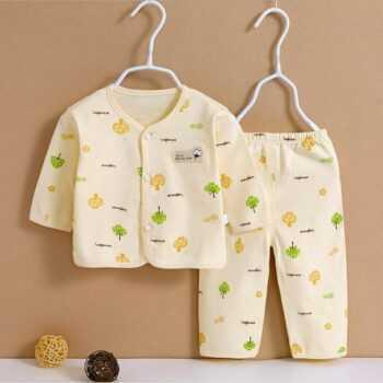 (2pcs/set)Newborn Baby 0-6M Clothing Set Brand Baby Boy/Girl Clothes 100% Cotton Cartoon Underwear,Free Shipping OT010