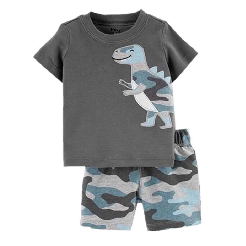 Summer Toddler Boys Clothes Suit Green Dino Baby Boy ...