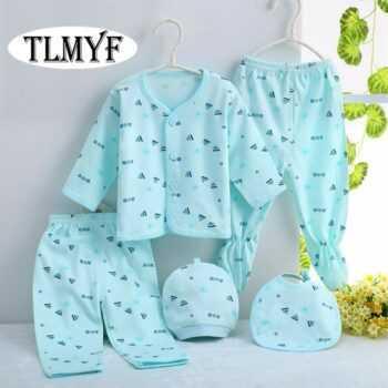 (5pcs/set)Newborn Baby 0-6M Clothing Set Brand Baby Boy/Girl Clothes 100% Cotton spring Cartoon Underwear,Free Shipping OT002