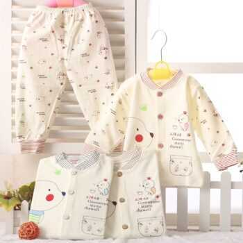 (2pcs/set)cheapest Newborn Baby Clothing Set Brand Baby Boy/Girl Clothes 100% Cotton Cartoon Underwear,Free Shipping 200312