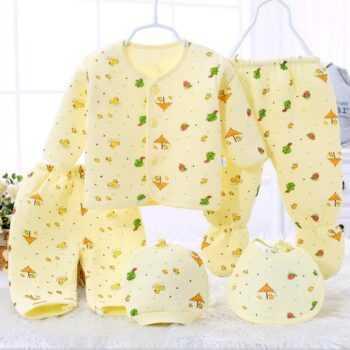 (5pcs/set)Newborn Baby 0-6M Clothing Set Brand Baby Boy/Girl Clothes 100% Cotton winter Cartoon Underwear,Free Shipping DN0007