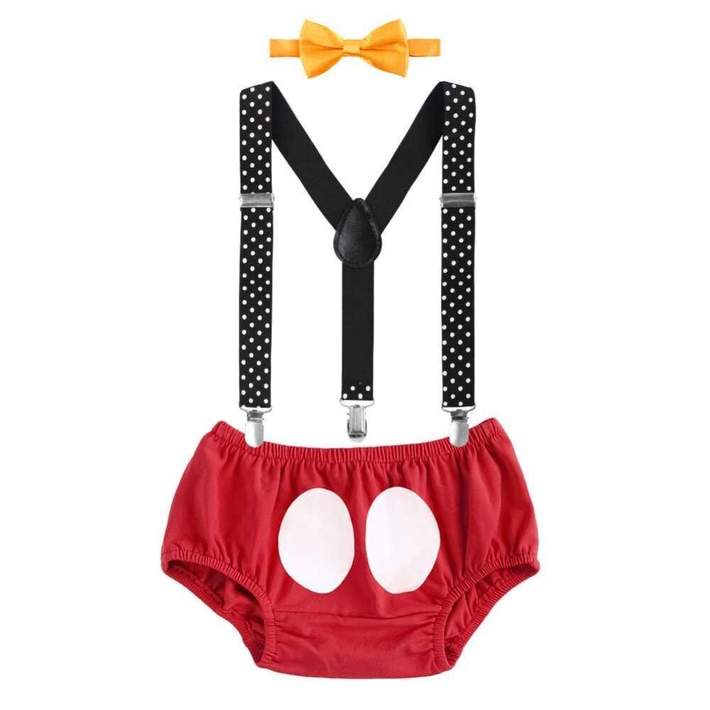 3pcs Set Baby Boy Girl Clothes Suspender Diaper Pants +Bow ...