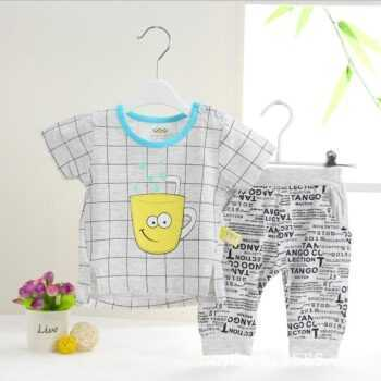 (2pcs/set)0-24month Baby Clothing Set Summer short Baby Boy Clothes Cartoon Underwear,Free Shipping OT022