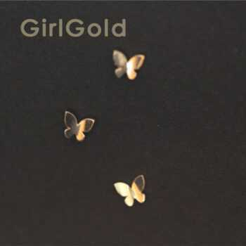 14K solid gold Butterfly earring Mini dainty women minimal simple style gift bridesmaid