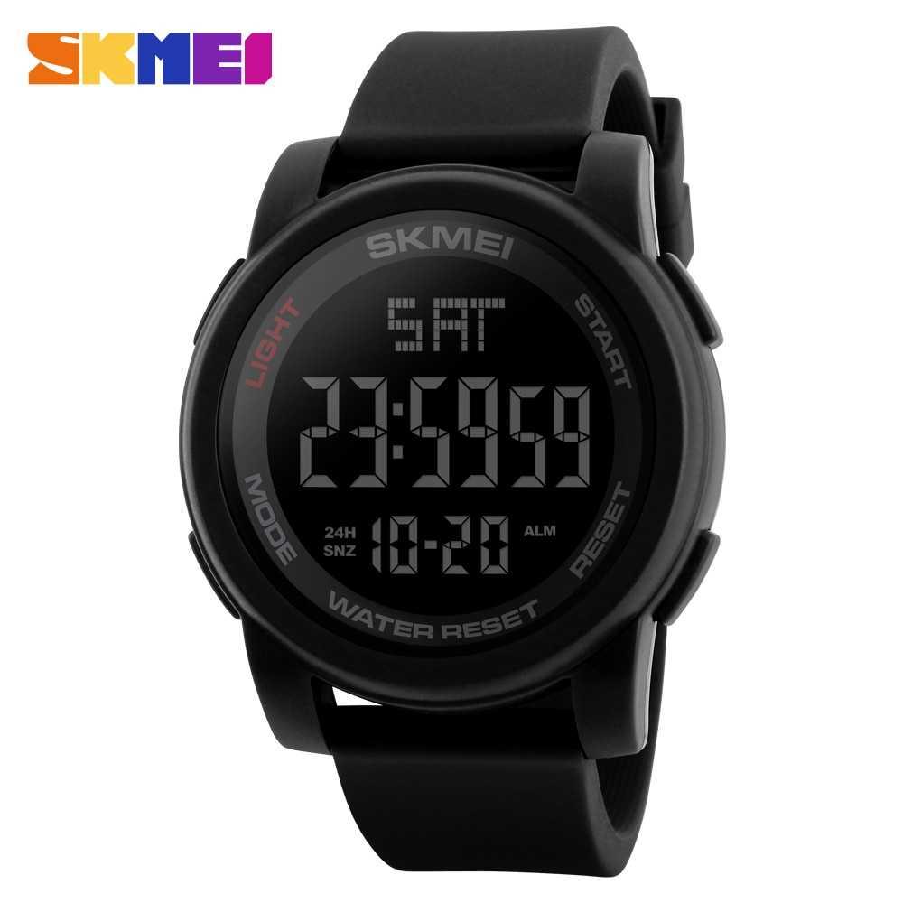 SKMEI Luxury Brand Mens Watches Swim 50m LED Digital Sport Watch Men Fashion Casual Clock Men Wristwatches Relogio Masculino