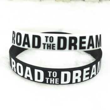 """Road to the Dream""""Never Give Up""Motivational Bracelets Silicone Rubber Band Elastic Inspirational Bracelets Gifts"