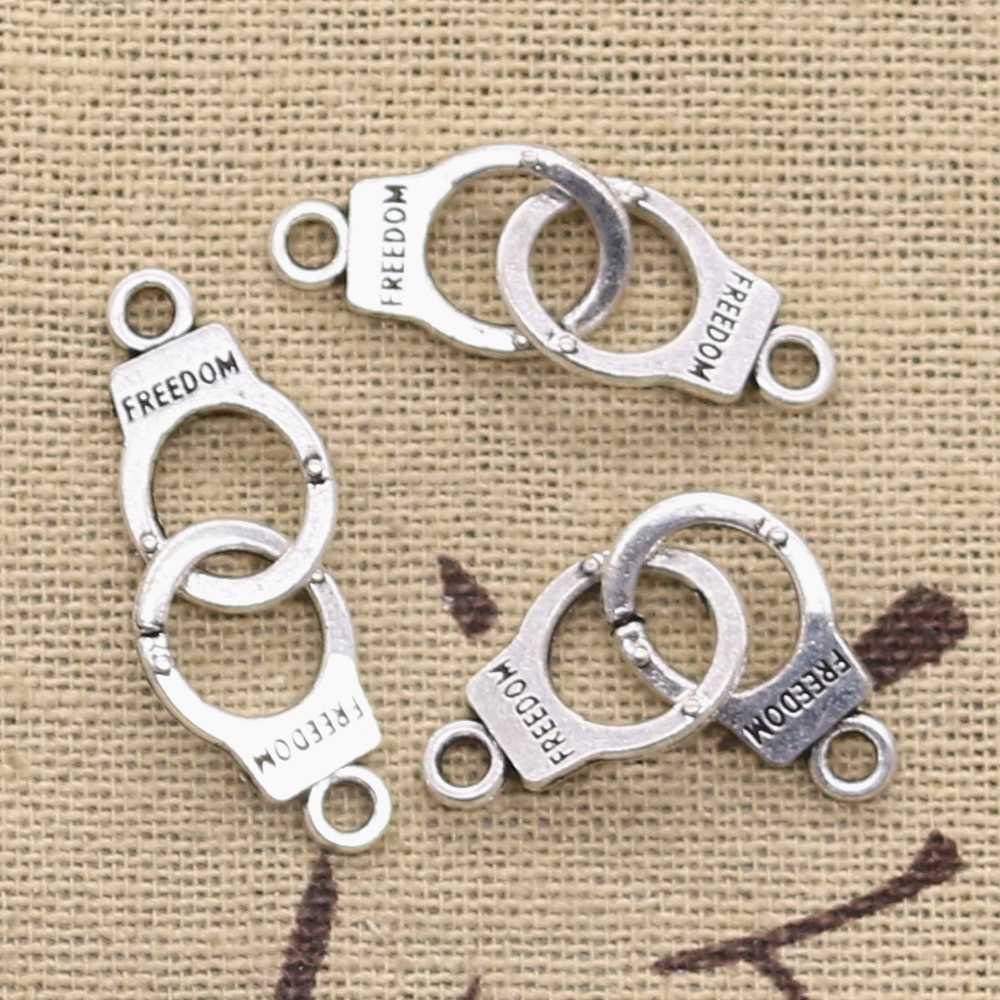 DIY Charms Handcuffs Pendants Jewellery Making Tibetan Silver Accessories