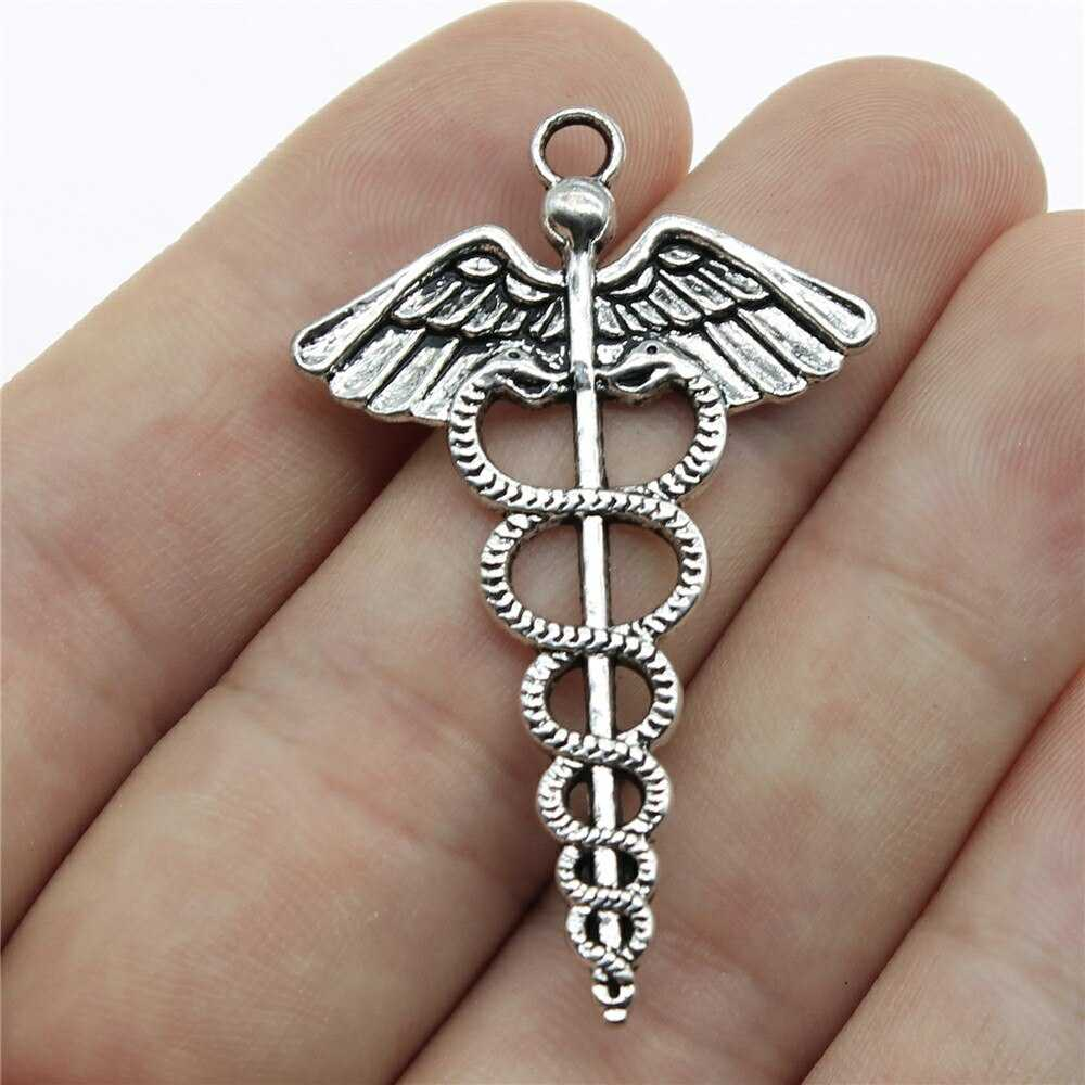 WYSIWYG 4pcs 49x30mm Pendant Caduceus Medical Symbol Caduceus Medical  Symbol Charm Caduceus Medical Symbol Pendants | Love the Shop