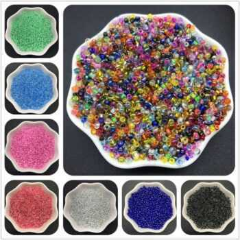 1000Pcs 2mm Silver Lined Glass Beads Charm Czech Seed Beads For Bracelet Necklace DIY Jewelry Making