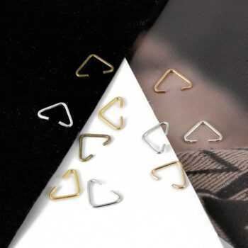 100 PCS/Bag 6mm*10mm Fashion Metal Triangle Clasps Buckle Connectors Gold silver Clasps & Hooks For Jewelry Making