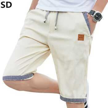 2019 Hot Sale Summer New Cotton Shorts Mens Casual linen Shorts Drawstring Waist Bermuda Shorts Men Plus Size drop shipping 7938