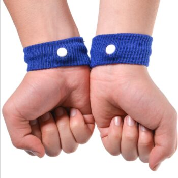 1 Pair Anti Nausea Wrist Support Sports Safety Wristbands Carsickness Sea Sick Anti Motion Sickness Wrist Bands