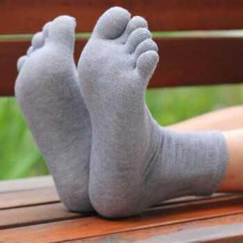 1 Pair Summer Breathable Men's Cotton Toe Socks Pure Sports Basketball Five Finger Socks  YS-BUY