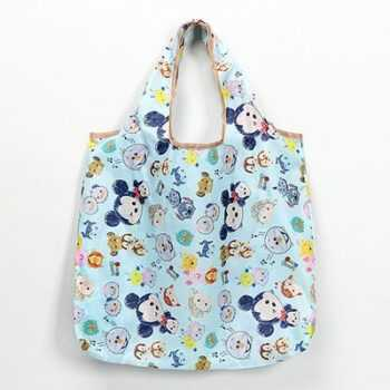 Disney cartoon folding bag for shopping Mickey mouse bag storage High capacity green bag hand cartoon shoulder