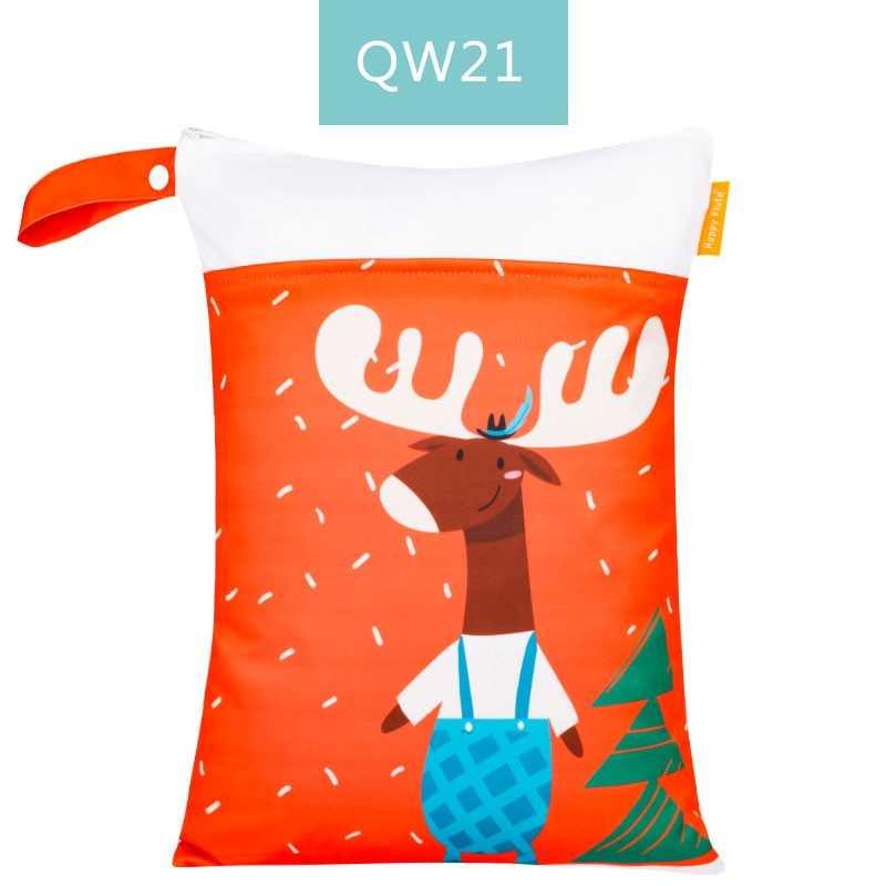 HappyFlute Digital Position Print Wetbag Reusable Waterproof Fashion Prints Wet Dry Diaper Bag With Handle Wetbags 30*40CM