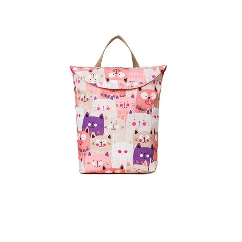 Baby Diaper Bags Maternity Bag Diaper Backpack Reusable Diaper Cover Dry Wet Bag for Mom Baby Care Waterproof Wet Cloth
