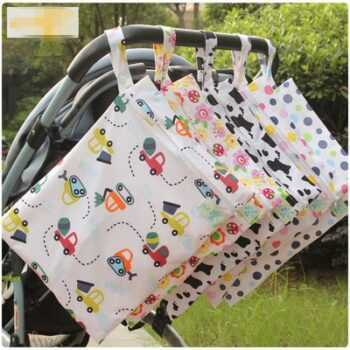 30*40CM single pocket wet bag, baby cloth diaper bag, waterproof reusable nappy bags mummy dry bag