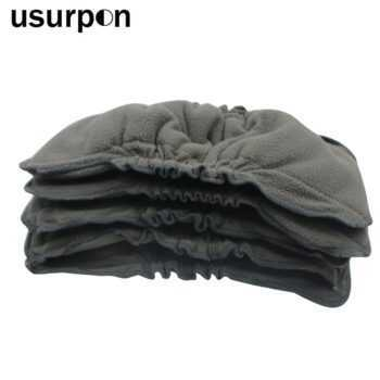 1 pc Bamboo charcoal insert with leg gusset and baby diaper insert absorbent bamboo insert cloth diaper insert pad