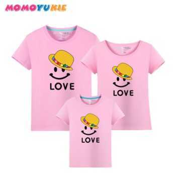 100%cotton Family Look 2018 Summer Family Clothing Mother Daughter T Shirt Family Matching Outfits Father Son T-shirt Plus size