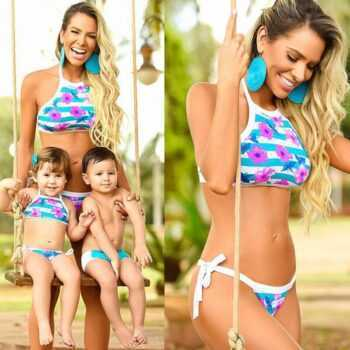 1 Set Swimwear Mother Daughter Family Look Swimsuit Mommy and Me Mother girl Clothes Mom and Baby Matching Clothing Outfit