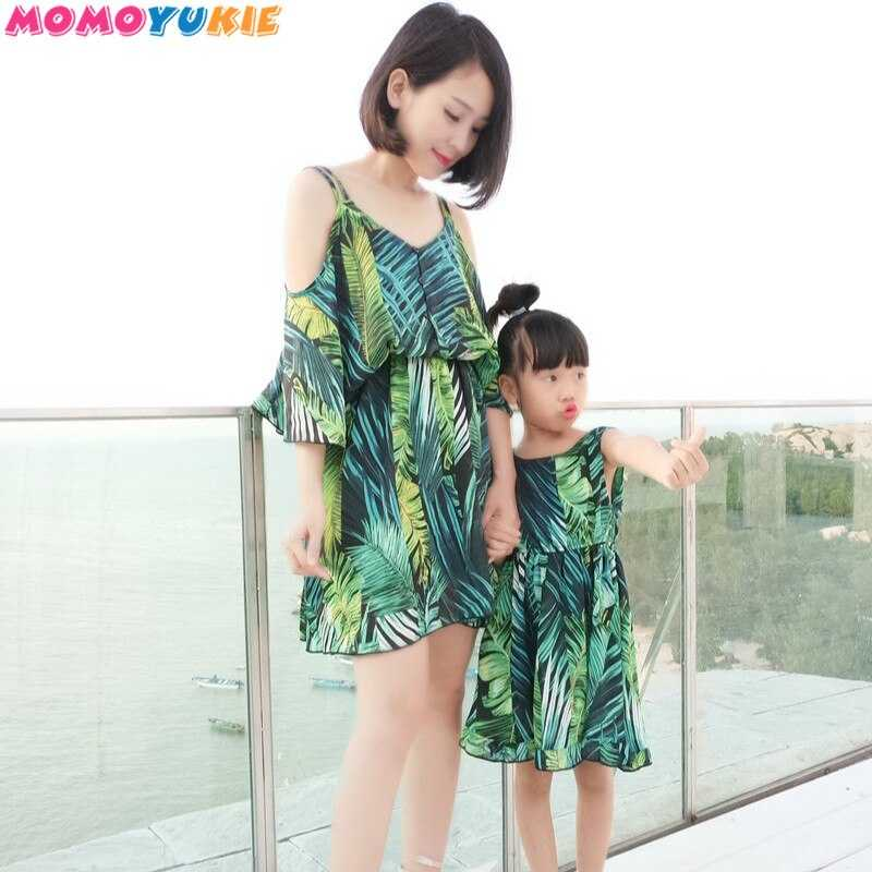 family matching clothes mommy and me off shoulder print family look dress matching family outfits mum mama and daughter dress