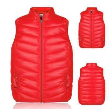 2-9Years kids vest girl boy waistcoat kids boys 4 Solid Color Boy Winter Vest Down Feather Warm Children Vest Clothes