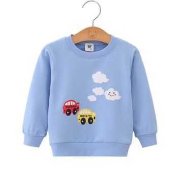 2019 Autumn Boys Brand Clothes Children Hoodies & Sweatshirts Boy Cotton Animal Print Kids Sweatshirts Baby Sweatshirt