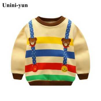 2017 Spring Boys Girls Sweatshirts for 12M-6Years Baby Children Clothes Cotton Casual Boys Girls Sweatshirts Hoodies Tops
