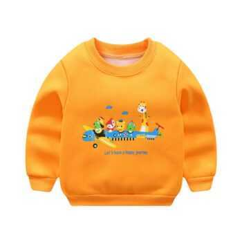 2017 Autumn New Cartoon Letter Printed Long Sleeve Children Sweater Boy Girl Pullover Top Shirts Sweatshirt Clothing Striped boy