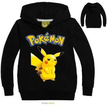 2019 Children Sweater Pokemon Cartoon Print Clothes Baby Girl Sweatshirt Kids Hoodie Casual Clothing Long-sleeve Shrit Tops