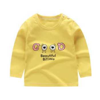 1-8T Toddler Cool Boy Girl Letter Print T-shirt Autumn Top Long Sleeve Unisex Fashion Cotton Infant Children Clothing