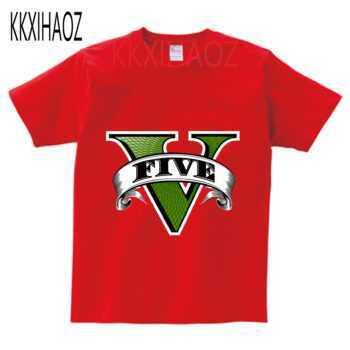 2-13Years children Boy Short Sleeve GTA 5 t shirt Games Clothes Grand Theft Auto Girls T Shirt Cotton Tops Tees kids baby GTA5