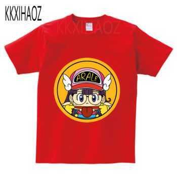 2-13yeas Children Anime Arale Design Funny T shirt Kids Baby Cute Clothes Boys Girls Summer Casual Tops Princess T-shirt NN